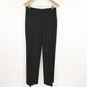 Jones New York stretch black straight leg pants
